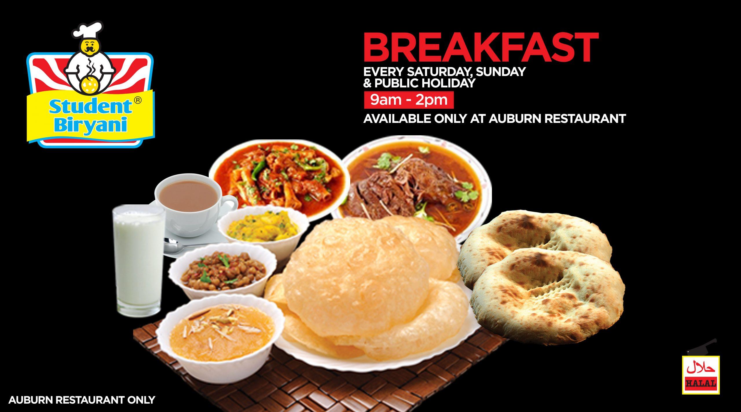 breakfast student biryani